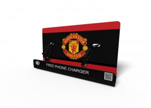Man_United M8 Mobile phone charging kiosk