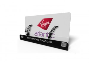 Virgin_Atlantic M8 Mobile phone charging kiosk