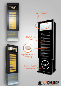 Wireless Mobile phone charging locker